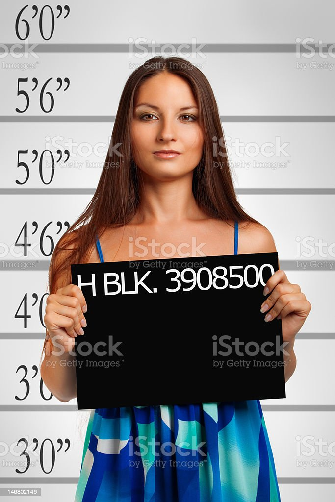 Usual suspect royalty-free stock photo
