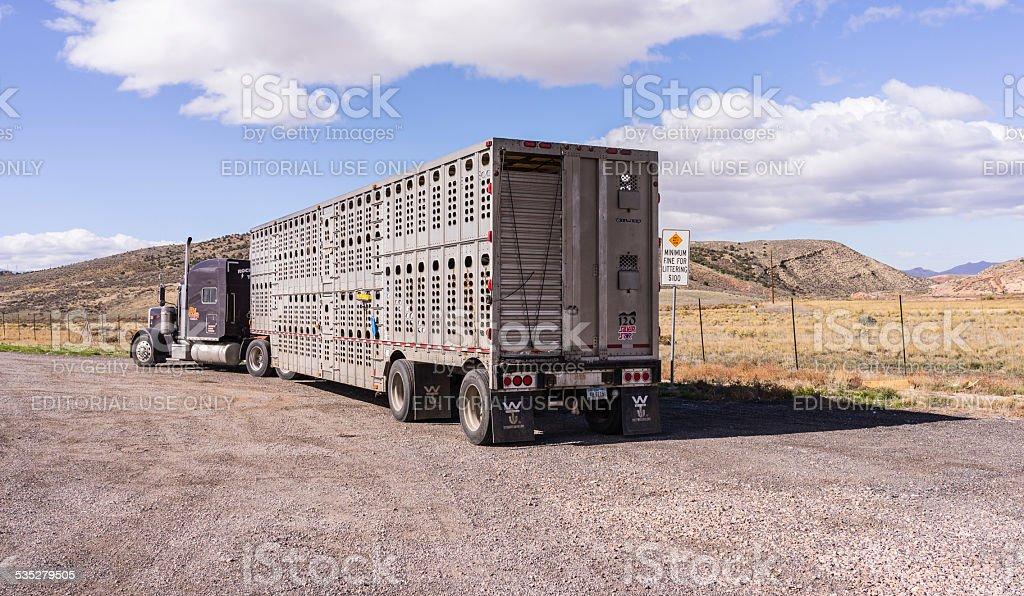 Utah. Along the Interstate 15 between Nephi and Scipio stock photo