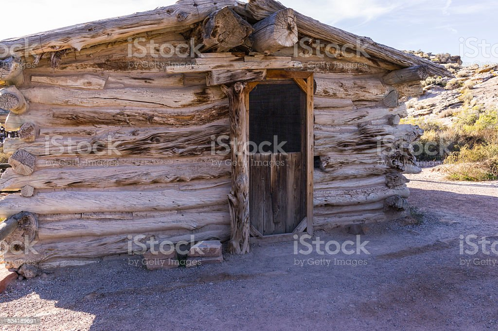 Arches National Park. Turnbow cabin stock photo