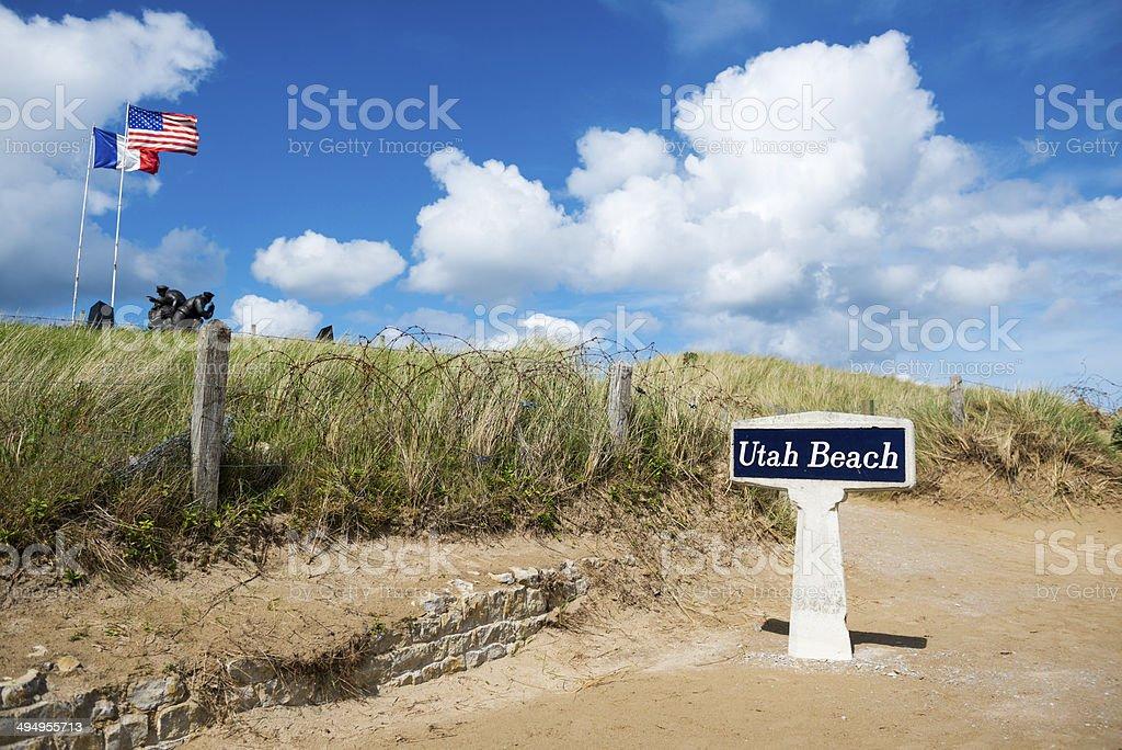 Utah Beach, Normandy stock photo