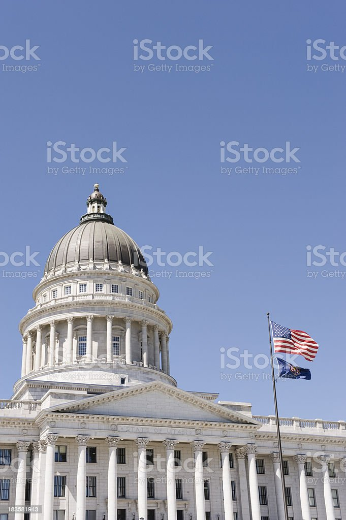 Utah Capitol Dome stock photo