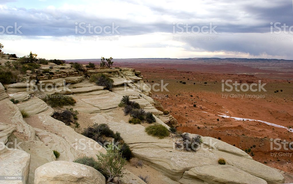 Utah Cloudscape & Rock formation stock photo
