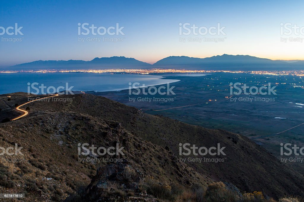 Utah County Inversion Sunrise stock photo