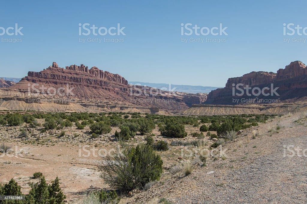 utah desert canyon stock photo