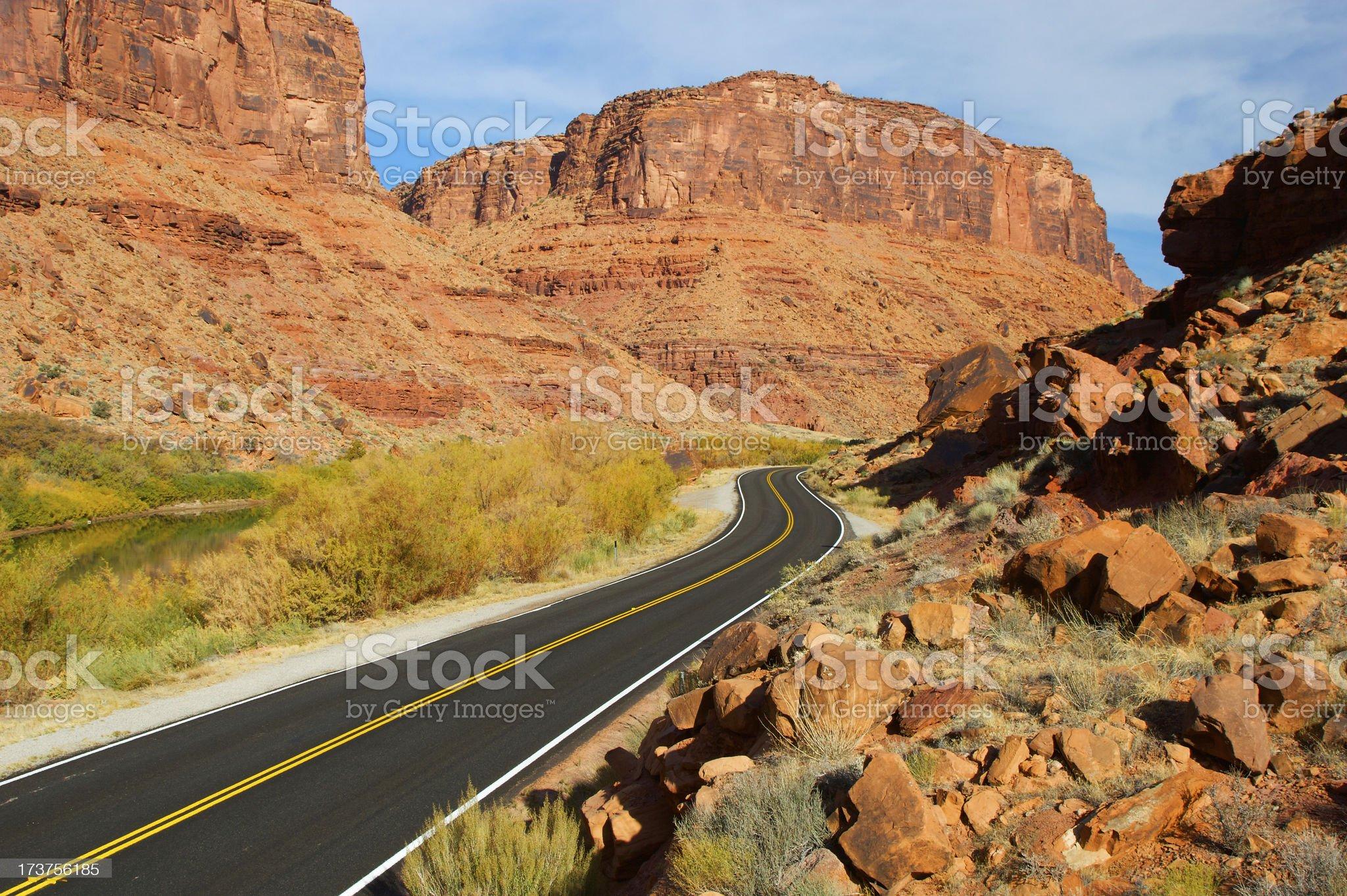 Utah Desert Road royalty-free stock photo