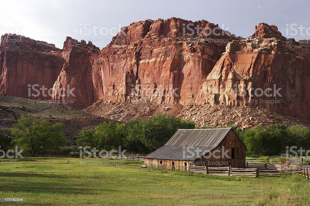 Utah Farm stock photo