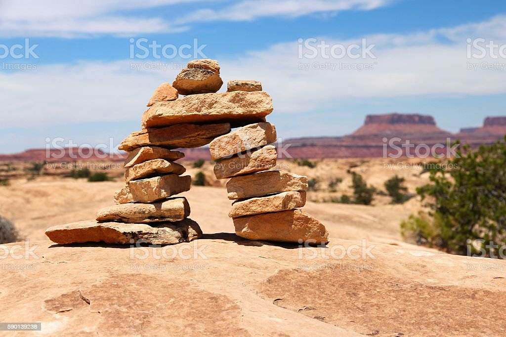 Utah hiking stock photo