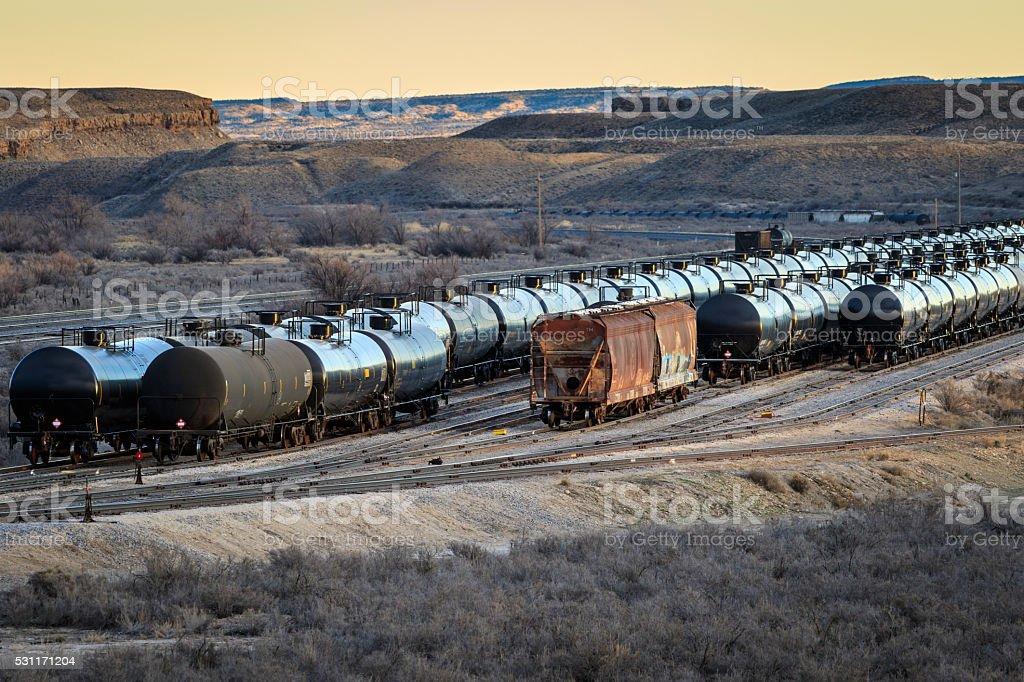 Utah Oil Depot stock photo