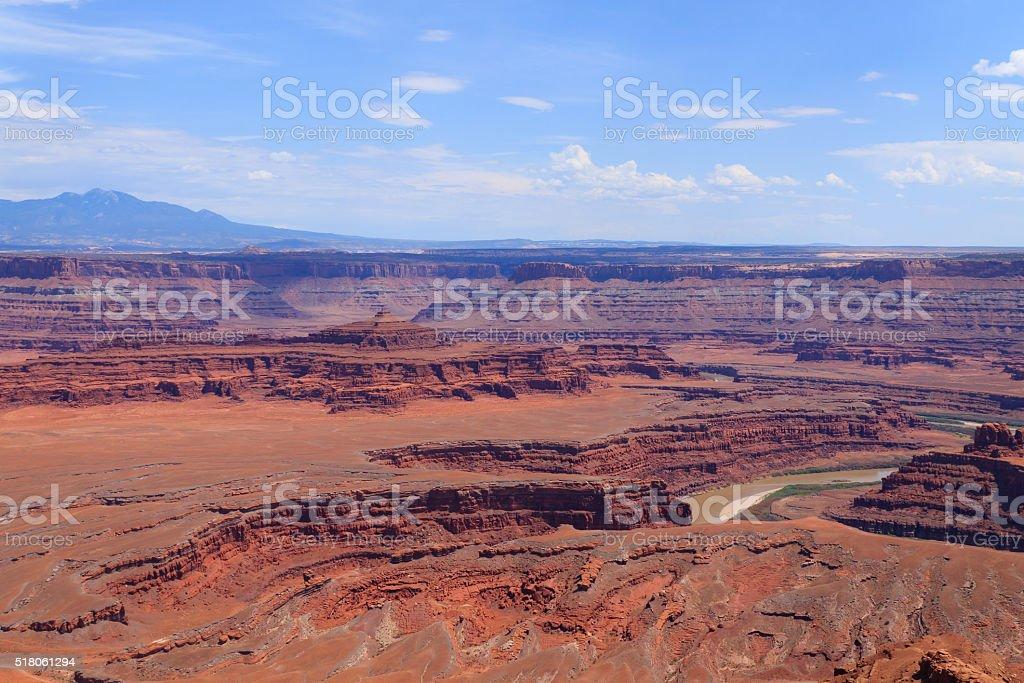 Utah panorama. Colorado river canyon. stock photo