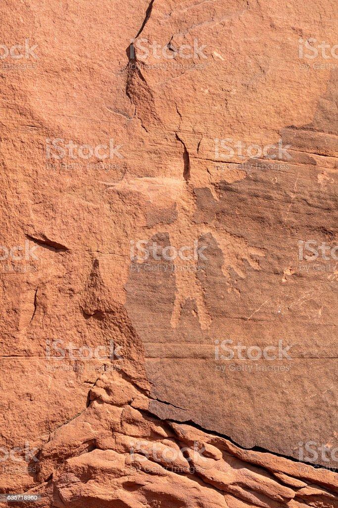 Utah Petroglyphs stock photo