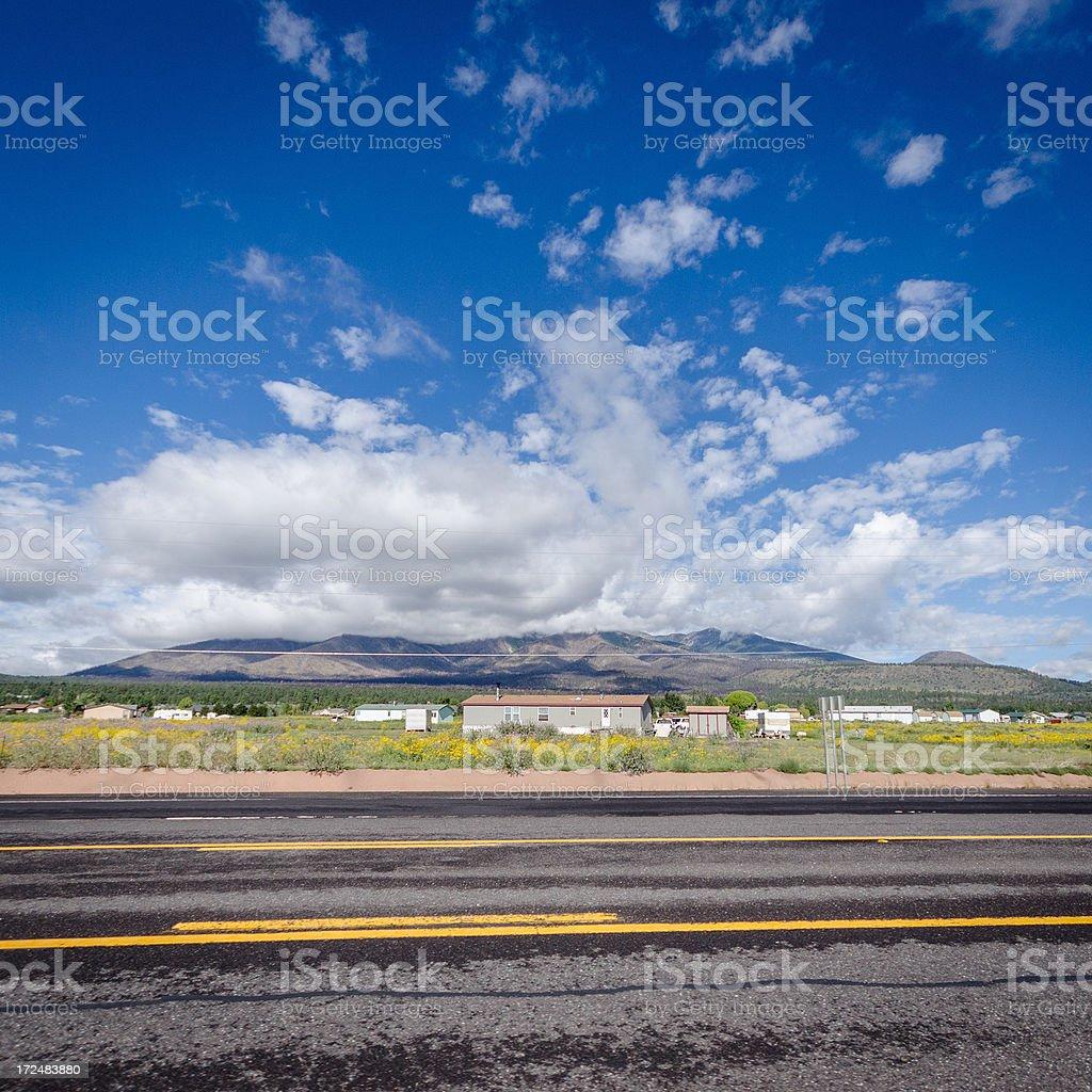 Utah road and mountain royalty-free stock photo