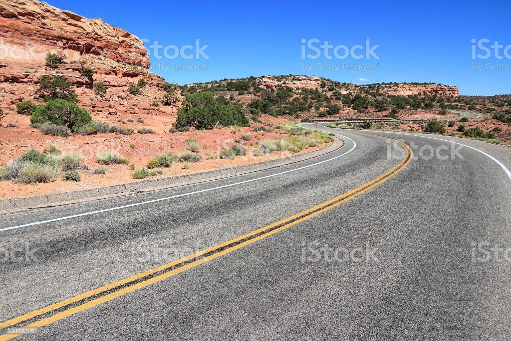 Utah road stock photo