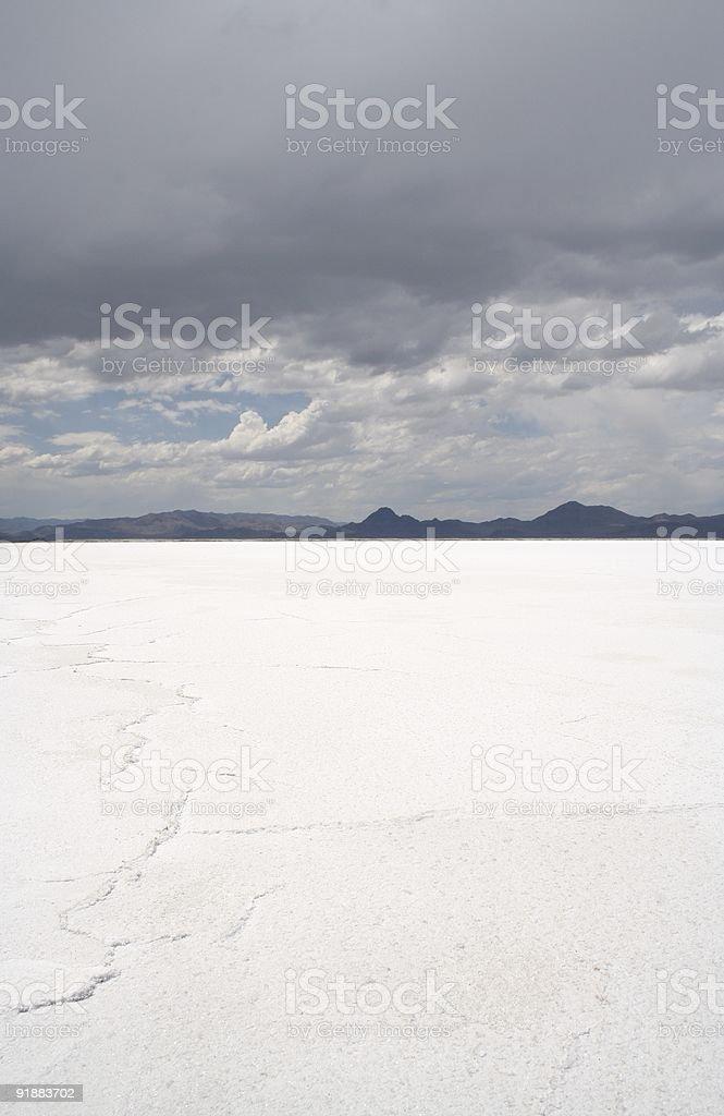 Utah Salt Flats stock photo