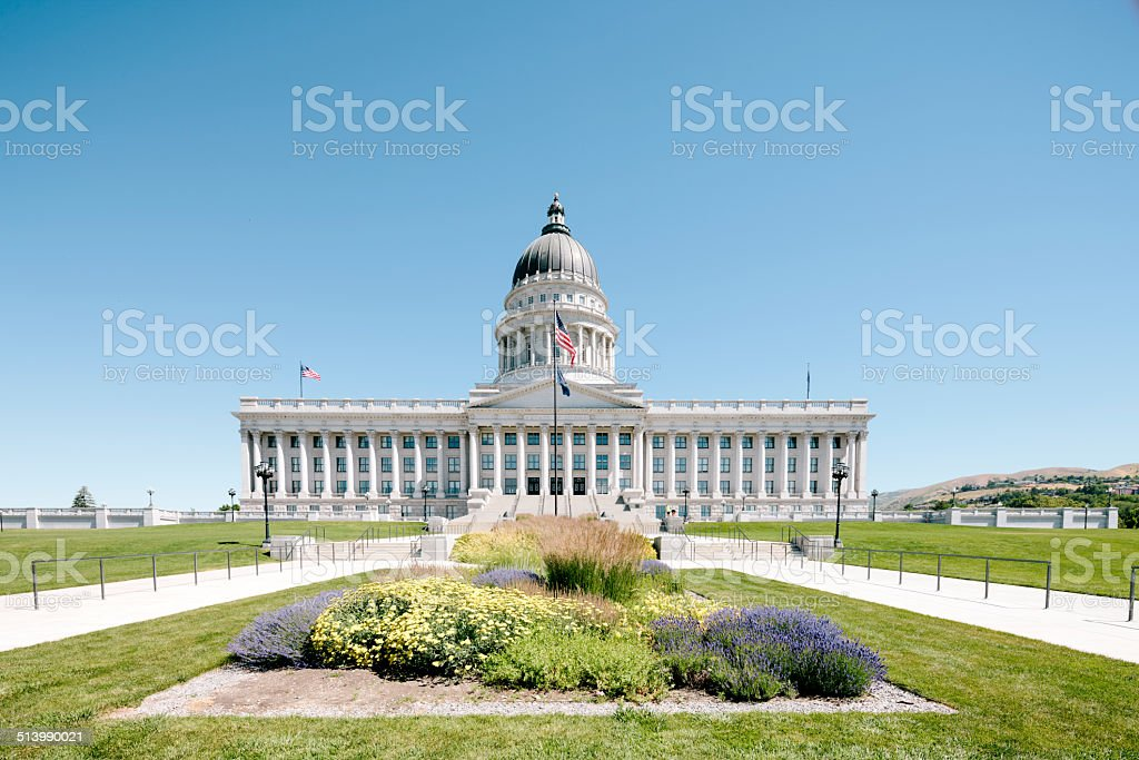 Utah State Capitol, exterior stock photo