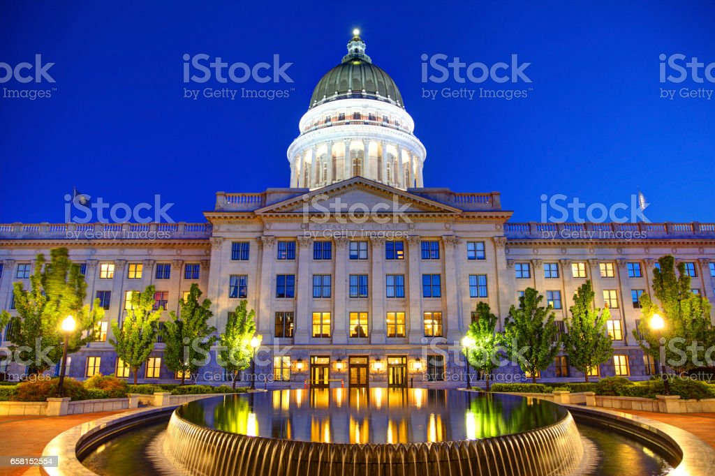 Utah State Capitol in Salt Lake City stock photo
