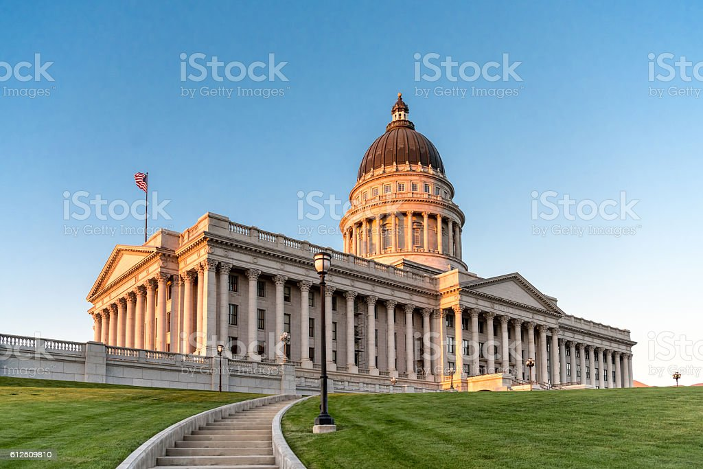 Utah State Capitol stock photo