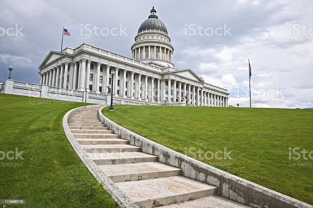 Utah State Capitol Salt Lake City USA stock photo