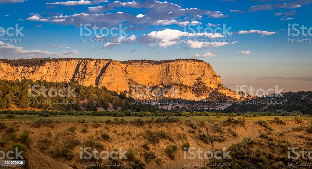 Utah sunset with red rock. stock photo