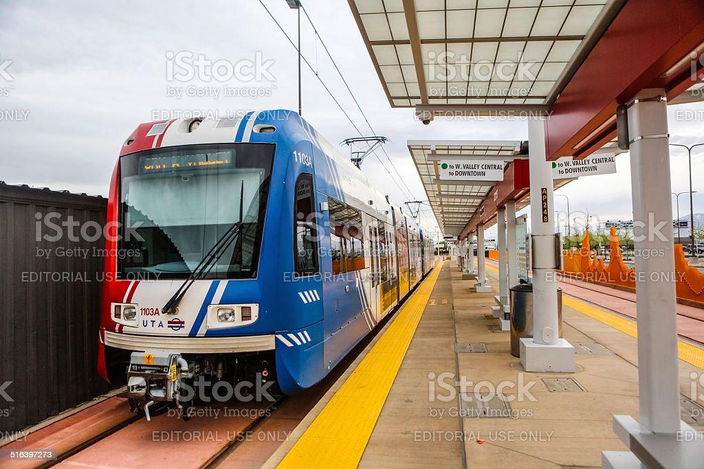 Utah Transit Authority train stock photo
