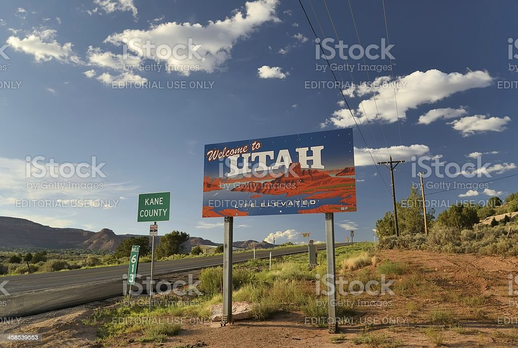 Utah/Arizona Border royalty-free stock photo