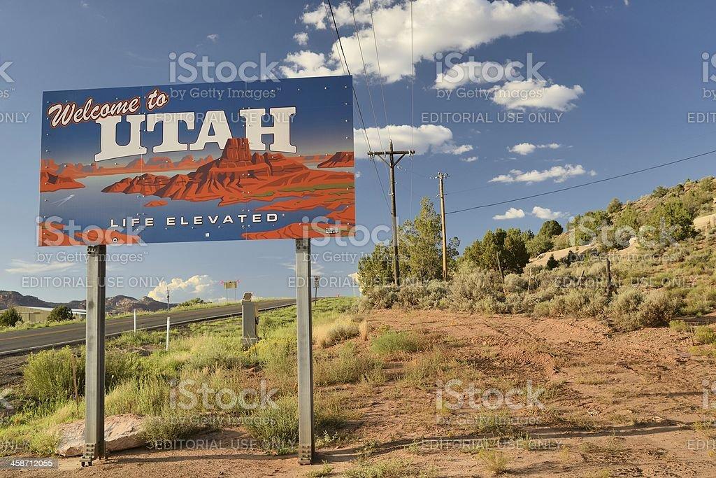Utah/Arizona Border royalty-free stock photo