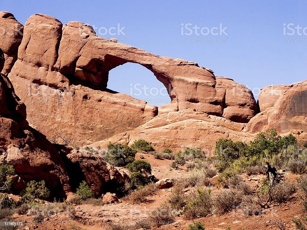 Utah di Formazione rocciosa arco Skyline foto stock royalty-free