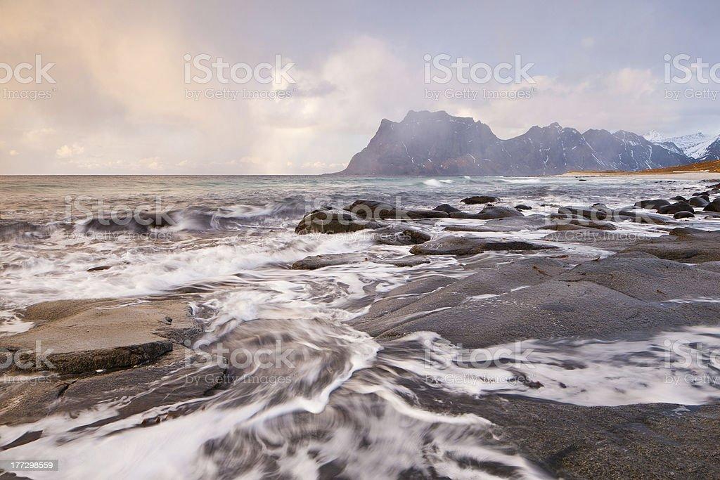 Utakleiv Storm royalty-free stock photo