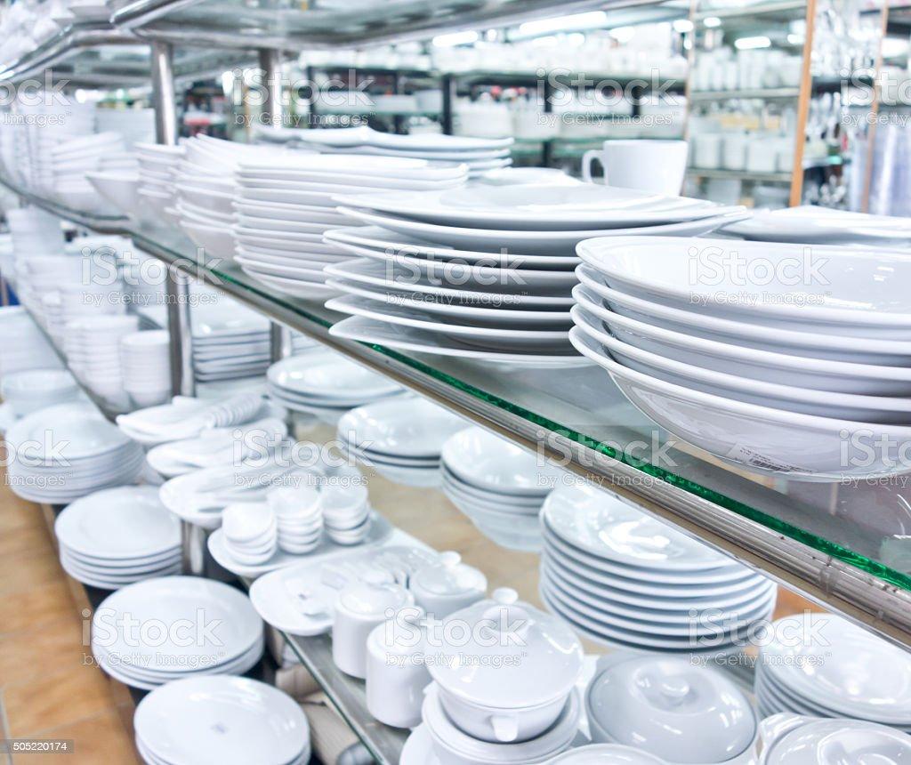 utensil shop stock photo