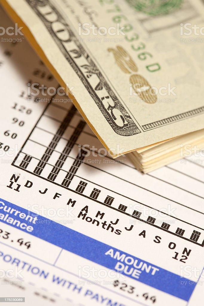 utility bill royalty-free stock photo