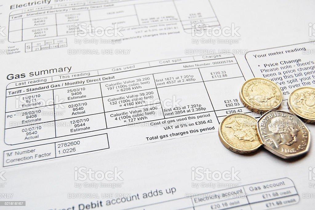 utility bill stock photo