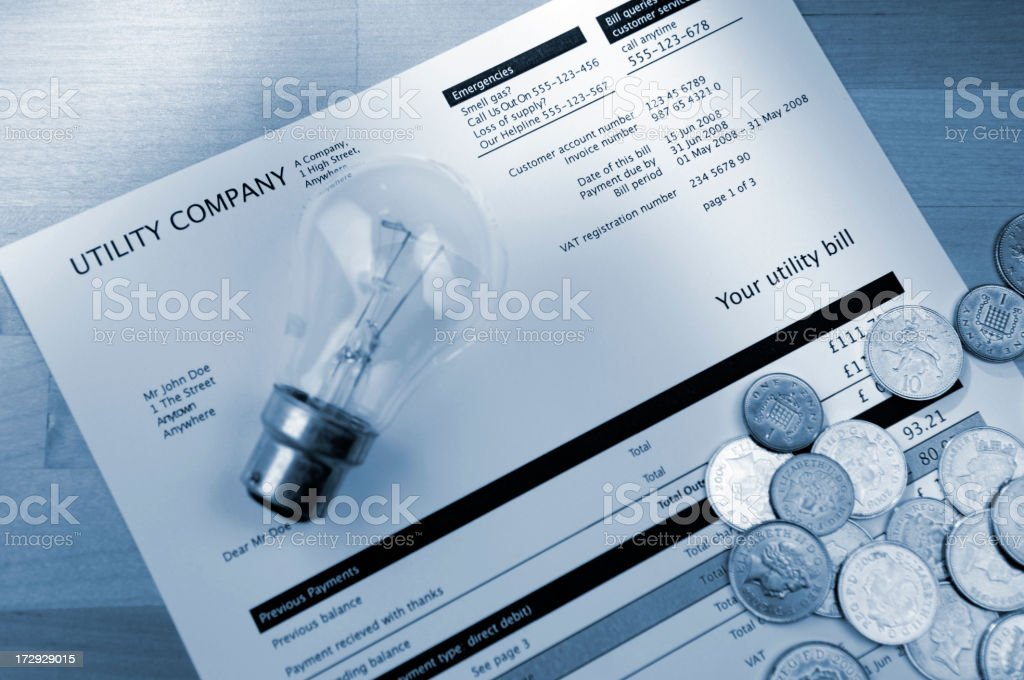 utility bill series royalty-free stock photo