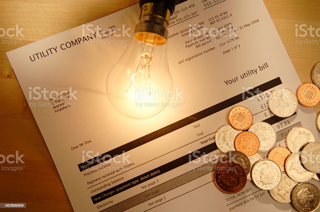 utility bill series stock photo