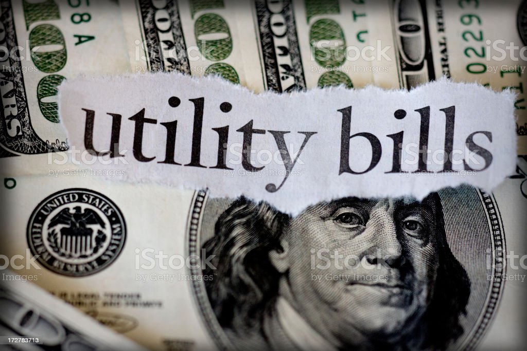 utility bills royalty-free stock photo