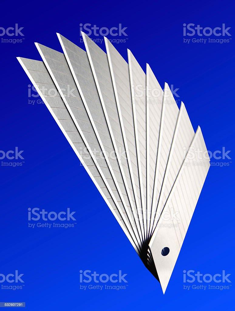Utility knife blade stock photo