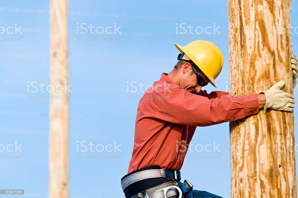 Utility Lineman stock photo
