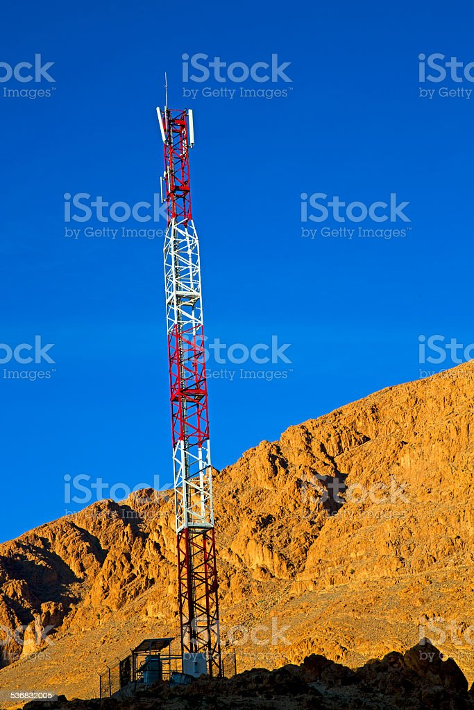 utility pole in africa stock photo