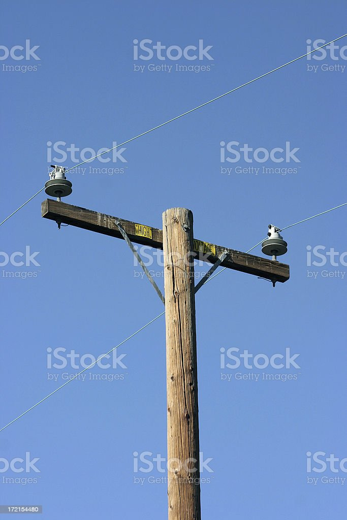 utility pole royalty-free stock photo