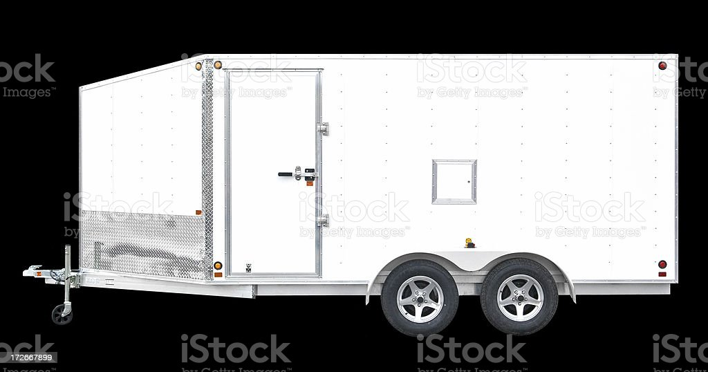 Utility Trailer stock photo