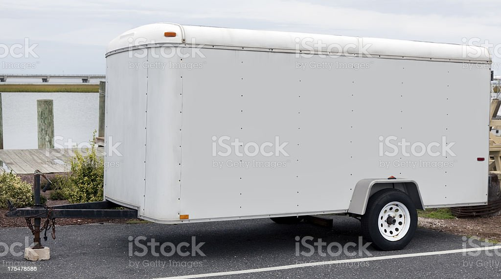 Utility Trailer stock photo
