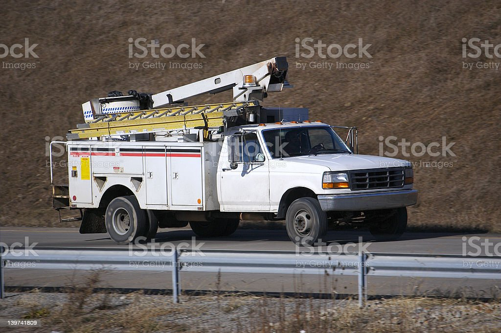 Utility Truck royalty-free stock photo