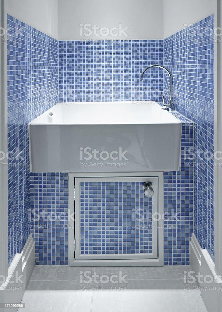 utility washing tub stock photo