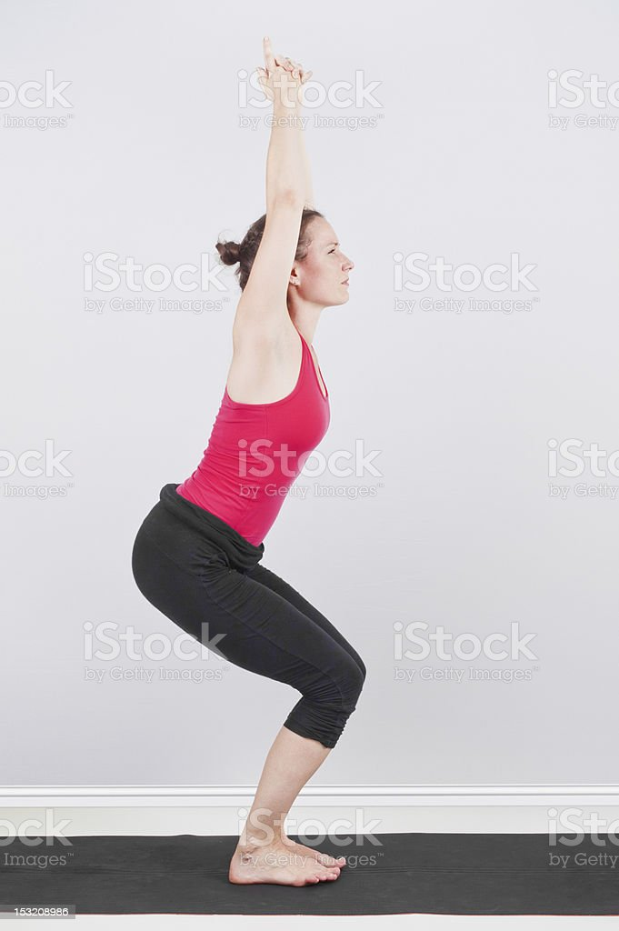 Utkatasana stock photo