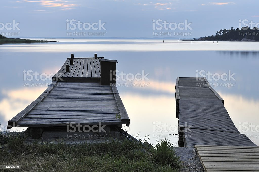 Uto harbour stock photo