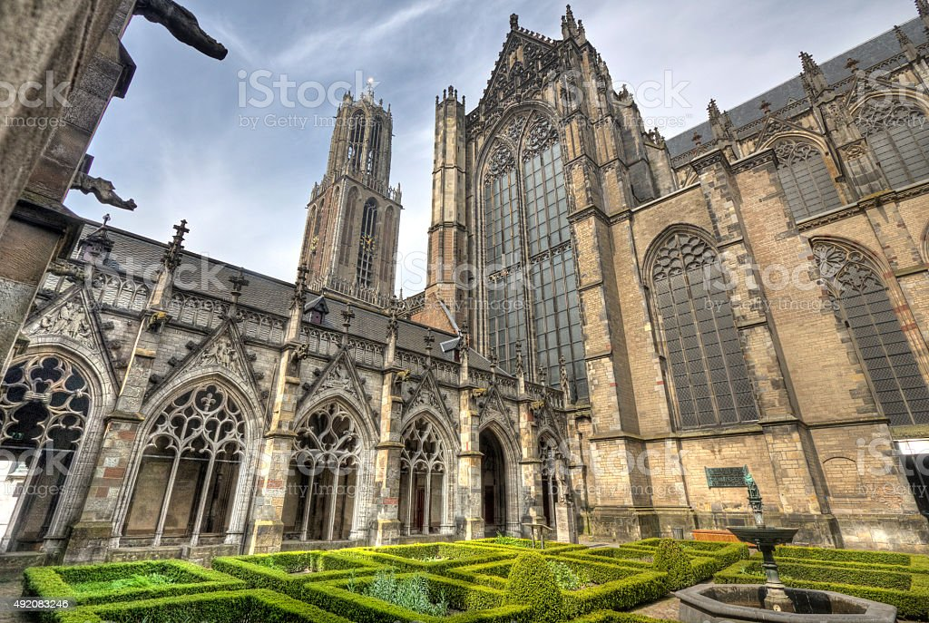 Utrecht Cathedral, Holland stock photo