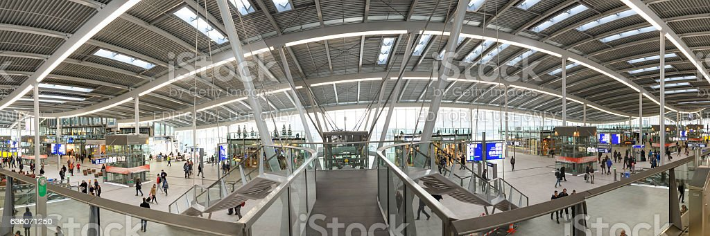 Utrecht Central newly designed train station in The Netherlands stock photo