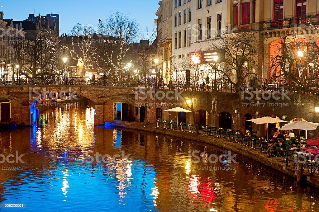 Utrecht Old Town stock photo
