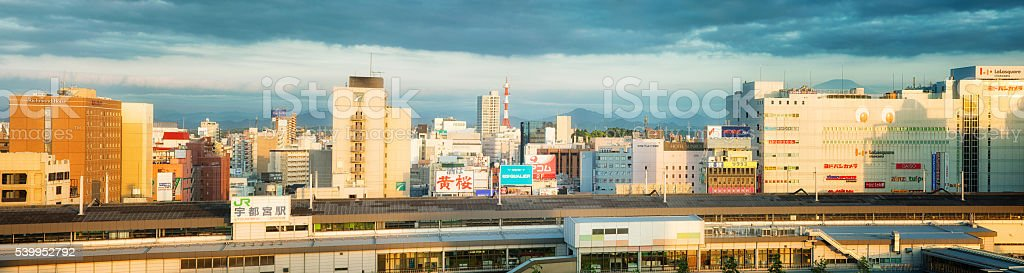 Utsunomiya Japan aerial panoramic view stock photo