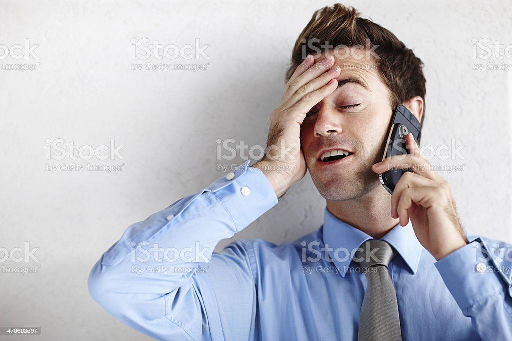 Utter relief after getting the promotion! stock photo