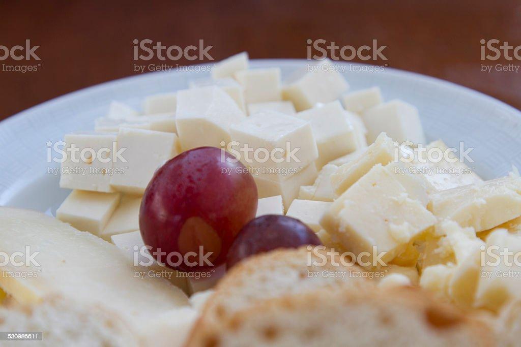 Uvas y queso zbiór zdjęć royalty-free