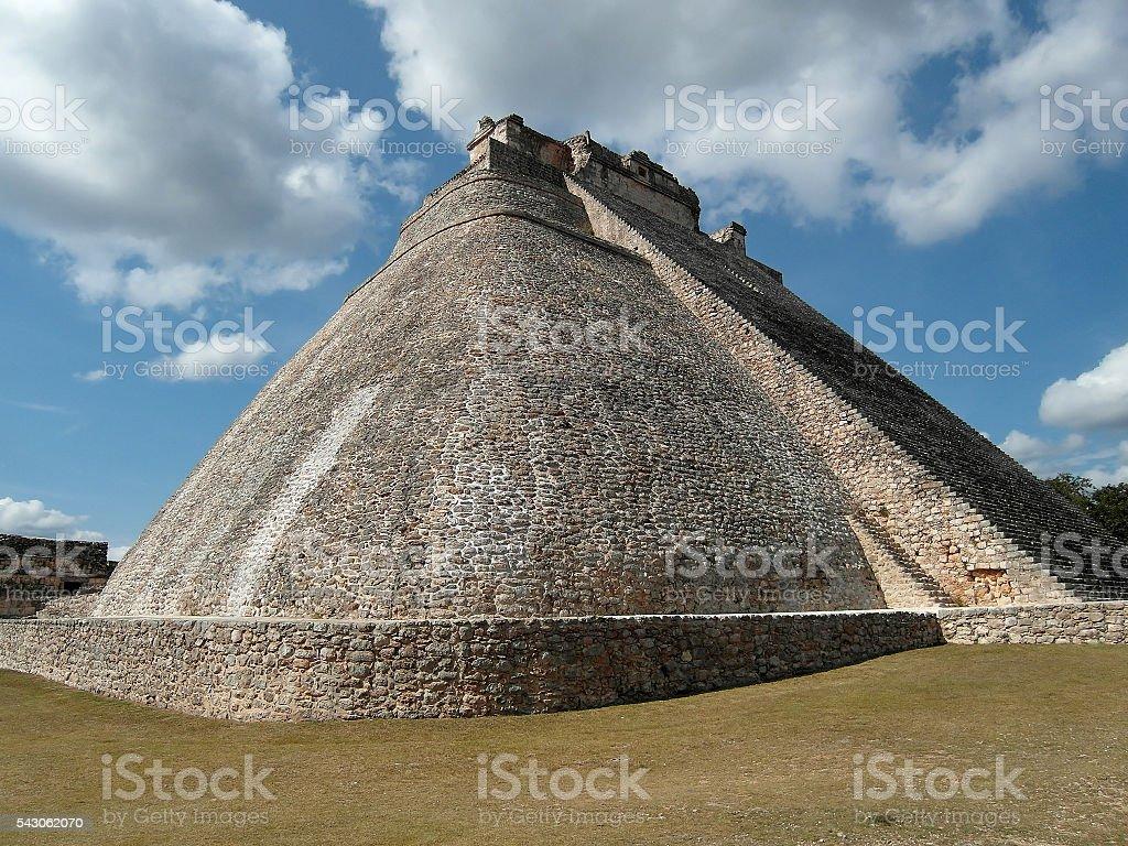Uxmal Pyramid of the Magician Yucatan Mexico stock photo
